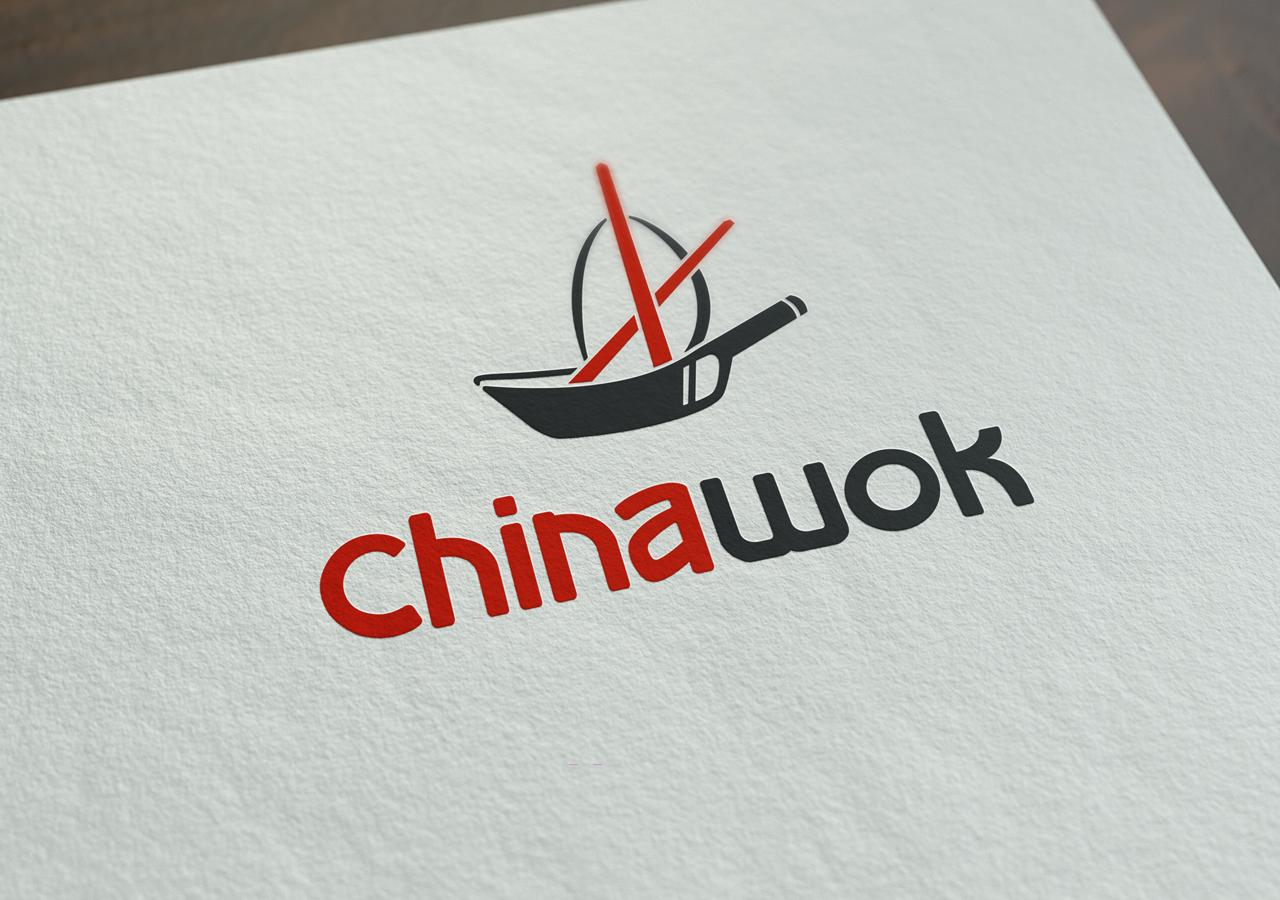 China Wok Logo Rendering Kettle Fire Creative small business restaurant rebranding Restaurant RebrandingChina Wok chinawok logo rendering1