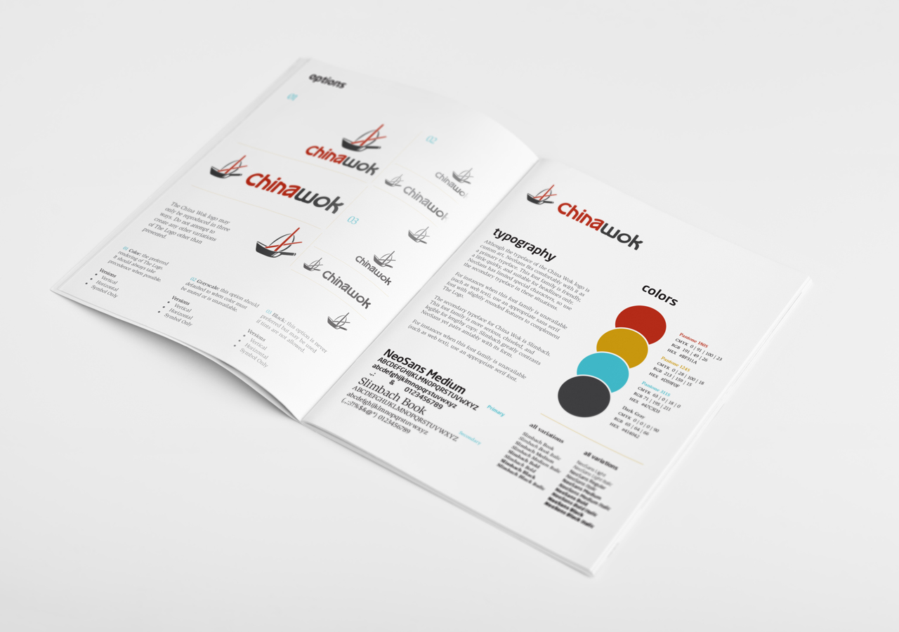 China Wok Restaurant Rebranding Usage Guide Kettle Fire Creative logo style guide brand book small business restaurant rebranding Restaurant RebrandingChina Wok chinawok usage guide