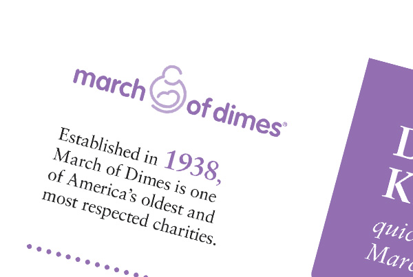 Event Collateral<br/>March of Dimes branding Work mod fi