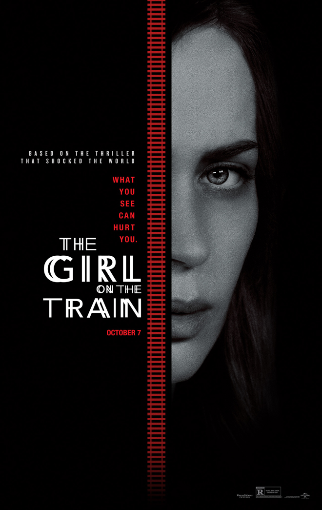 Kettle Fire Creative The Girl on the Train movie poster design movie poster design Branding for the Big Screen: 8 Best Movie Poster Designs of the Year girl on train movie poster