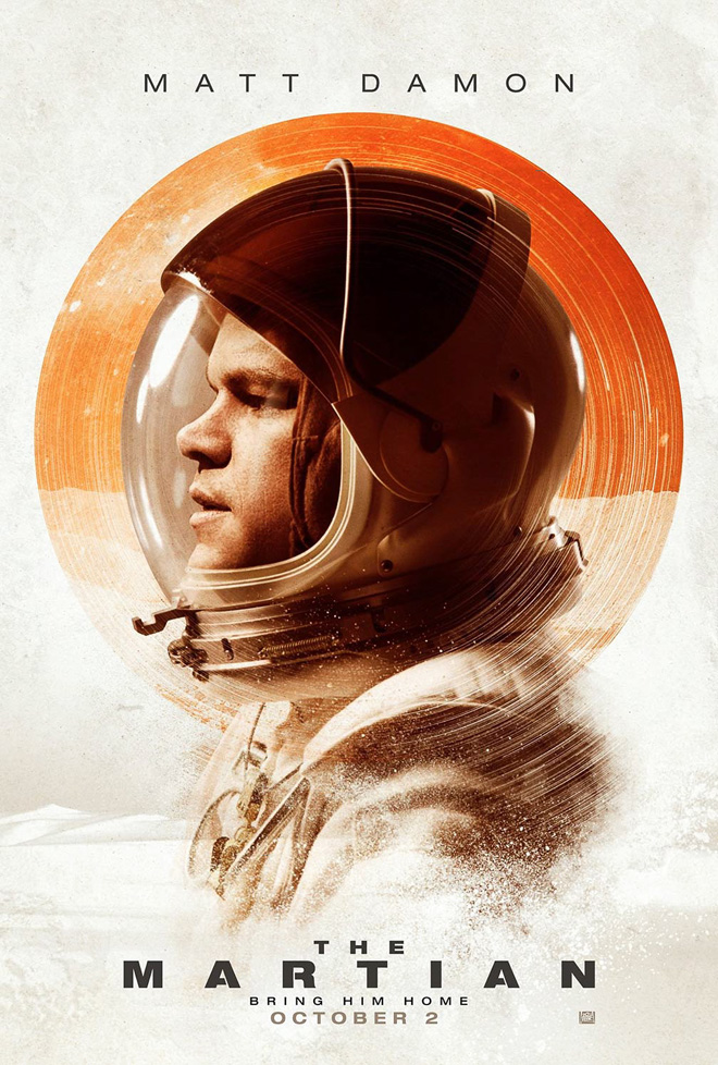 Kettle Fire Creative The Martian movie poster design movie poster design Branding for the Big Screen: 8 Best Movie Poster Designs of the Year martian poster