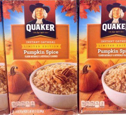 Pumpkin spice oatmeal Quaker pumpkin spice branding Kettle Fire Creative pumpkin spice Pumpkin Spice Branding: How the Craze Defines the Concept Quaker Oatmeal e1477679325343