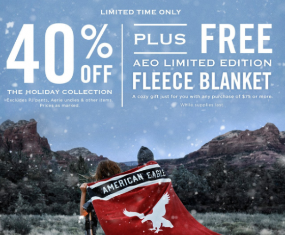 Black Friday marketing strategies free add-on American Eagle Kettle Fire Creative black friday 5 Ways You've Been Tricked by Black Friday Marketing Strategies AmEagle free add on e1479512864161