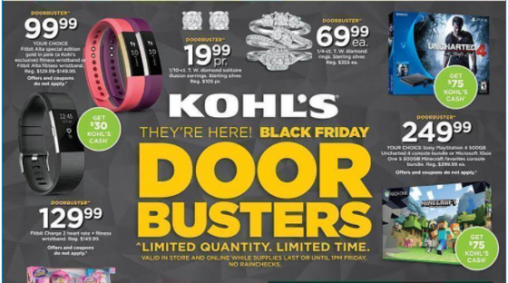 Black Friday marketing strategies no dollar signs Kohls Kettle Fire Creative black friday 5 Ways You've Been Tricked by Black Friday Marketing Strategies Kohls dollar signs e1479512692252