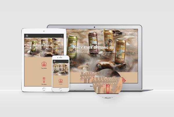 Website Design<br/>Piney River Brewing Co. branding Work prbc website fi