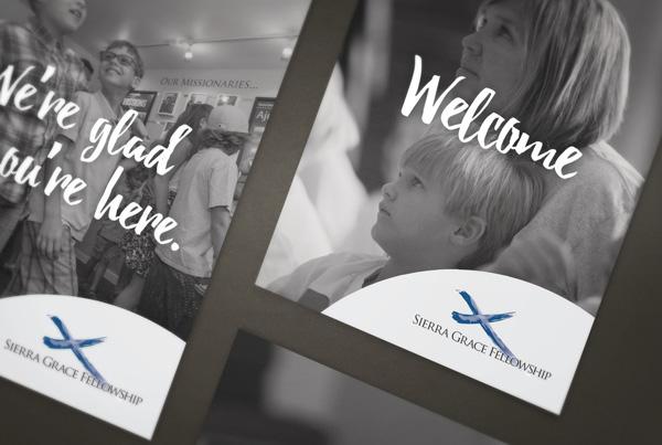 Church Welcome Materials<br/>Sierra Grace Fellowship branding Work sgf fi