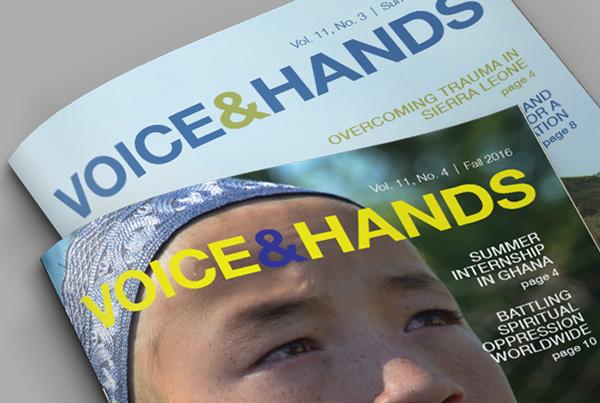 Voice & Hands Nonprofit Newsletter branding Kettle Fire Creative – Branding Colorado Springs voicehands fi