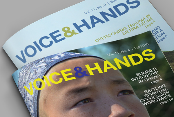 Voice & Hands Nonprofit Newsletter branding Work voicehands fi