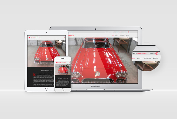 East Valley Custom Paint Web Design branding Kettle Fire Creative – Branding Colorado Springs evcp website fi