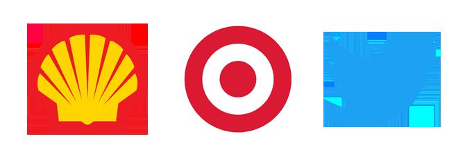 brandmark logo design Shell Target Twitter Kettle Fire Creative logo terminology Logo Terminology: Wordmark, Brandmark, Lettermark, Lockup brandmarks