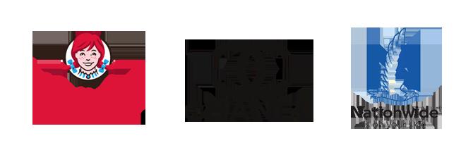 logo lockup design Wendy's Chanel Nationwide Kettle Fire Creative