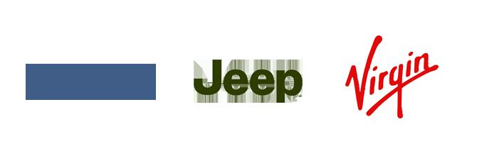 wordmark logo design Instagram Jeep Virgin Kettle Fire Creative logo terminology Logo Terminology: Wordmark, Brandmark, Lettermark, Lockup wordmarks