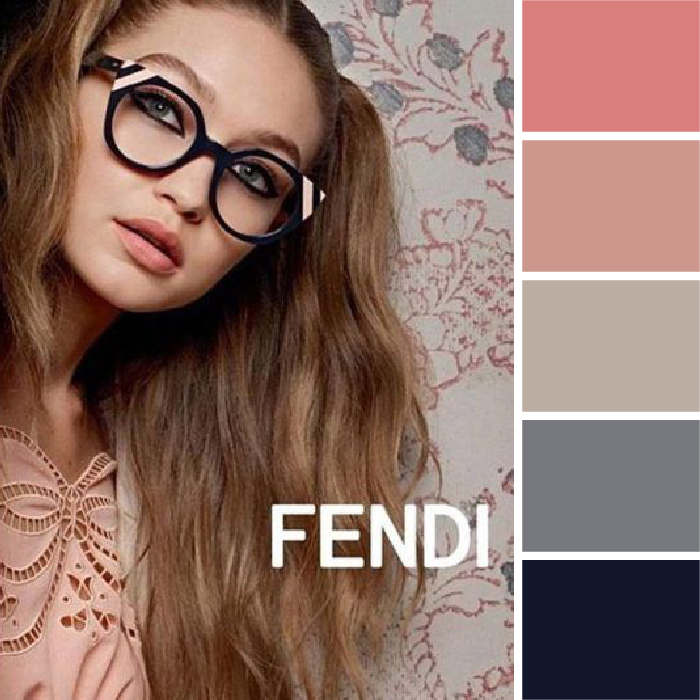 Colors of Spring color palettes Fendi pink gray Kettle Fire Creative spring color palette Colors of Spring: 5 Ads with Inspiring Spring Color Palettes Fendi