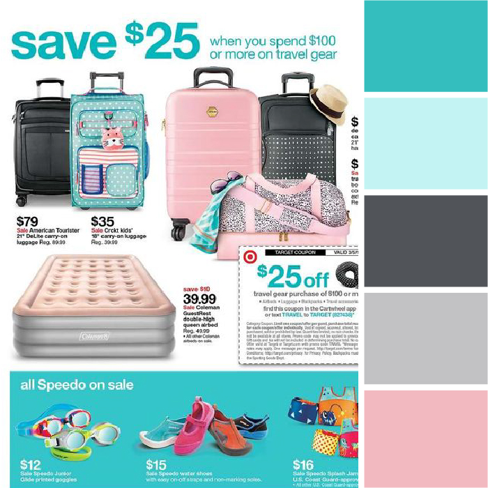 Colors of Spring color palettes Target turquoise pink Kettle Fire Creative spring color palette Colors of Spring: 5 Ads with Inspiring Spring Color Palettes Target