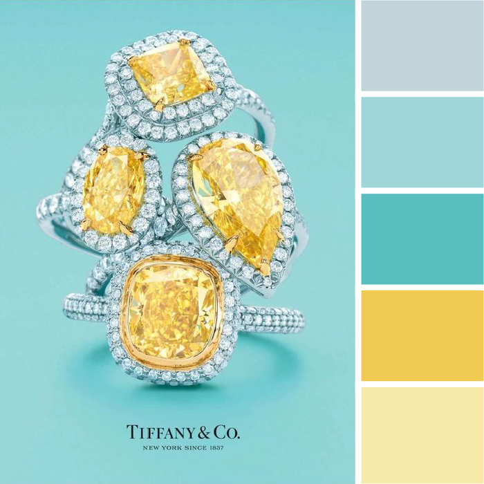 Colors Of Spring Color Palettes Tiffany Blue Yellow Kettle Fire Creative Palette