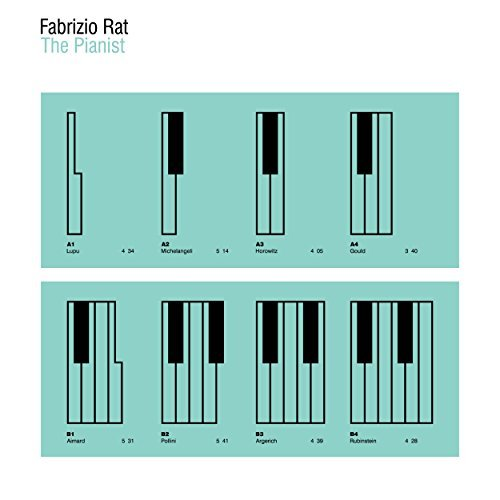 Fabrizio Rat The Pianist album artwork, top album covers 2017, Kettle Fire Creative album cover Top 17 Album Covers of 2017 (so far) Fabrizio Rat The Pianist