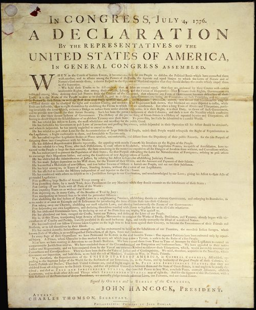 U.S. brand standards, branding USA, Dunlap Broadside declaration of independence, Kettle Fire Creative brand Branding the USA: Brand Standards for the United States, 1776 Dunlap Broadside declaration e1499199261159