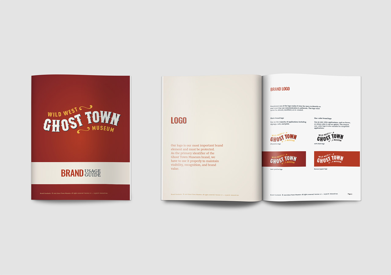 Rebrand brand strategy ghost town museum Kettle Fire Creative branding Colorado Springs rebrand Rebrand + Web DesignGhost Town Museum ghost town brand 2
