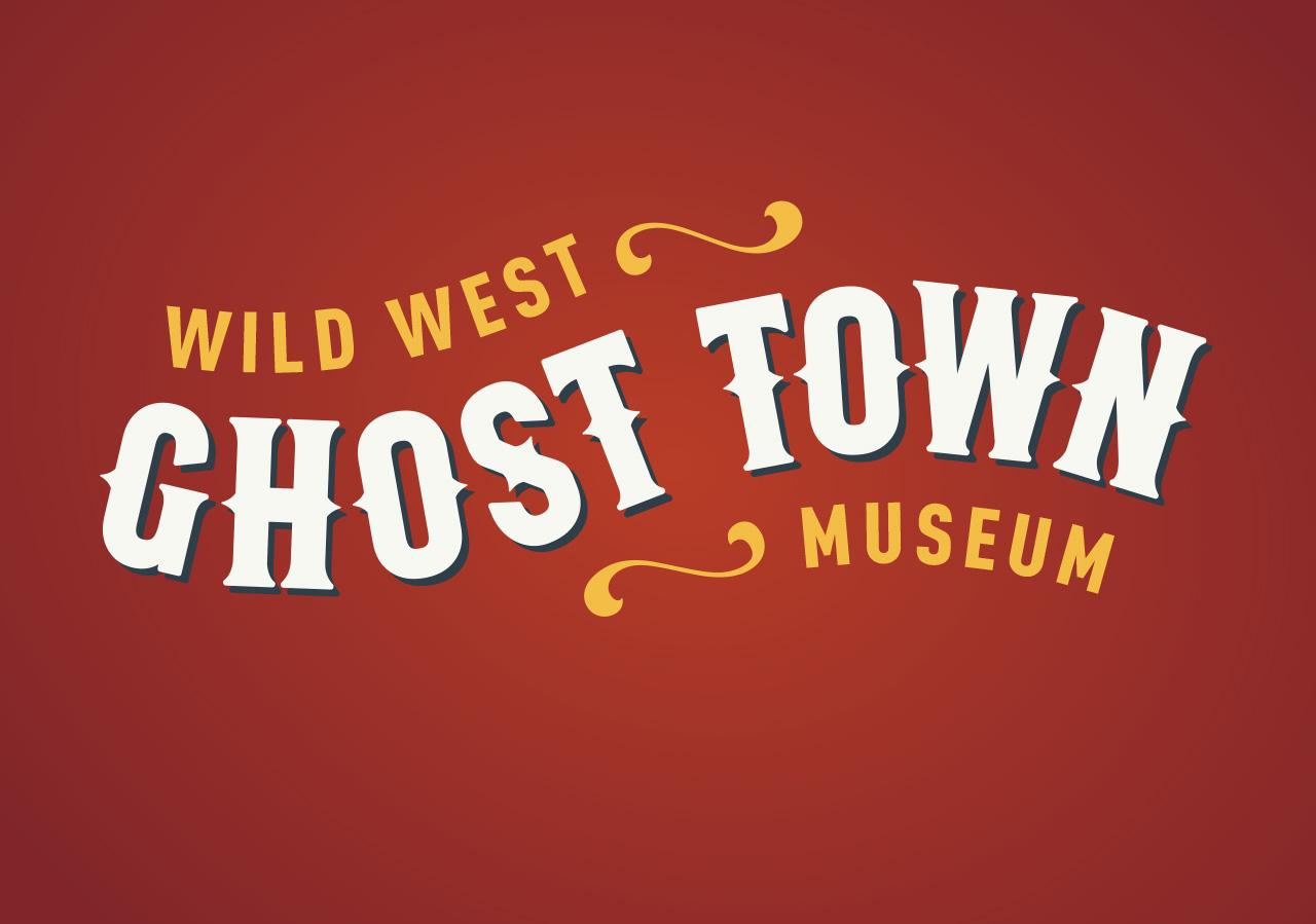 Rebrand logo design logo refresh ghost town museum Kettle Fire Creative branding Colorado Springs rebrand Rebrand + Web DesignGhost Town Museum ghost town logo