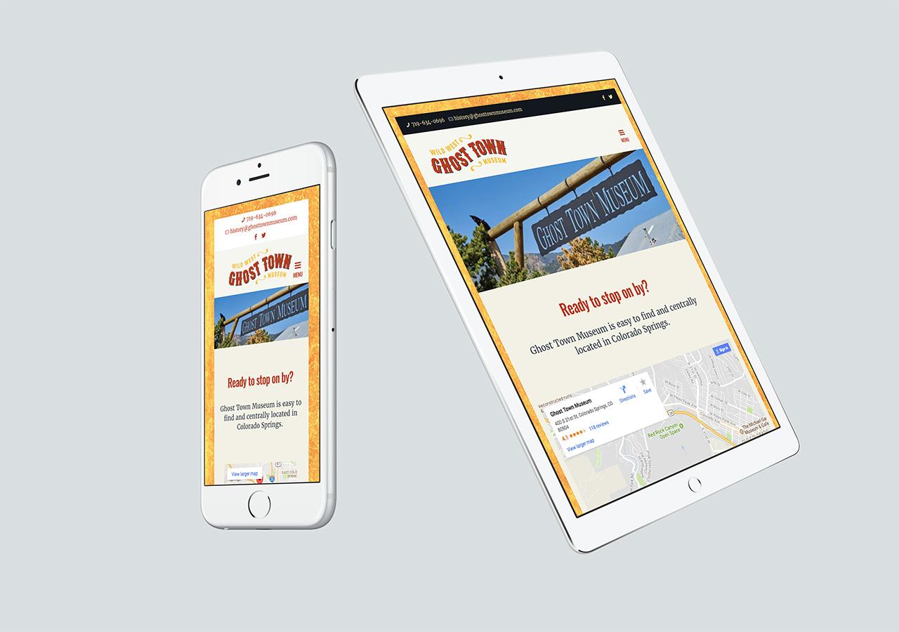 Rebrand web design mobile friendly ghost town museum Kettle Fire Creative branding Colorado Springs rebrand Rebrand + Web DesignGhost Town Museum pspc website website 3