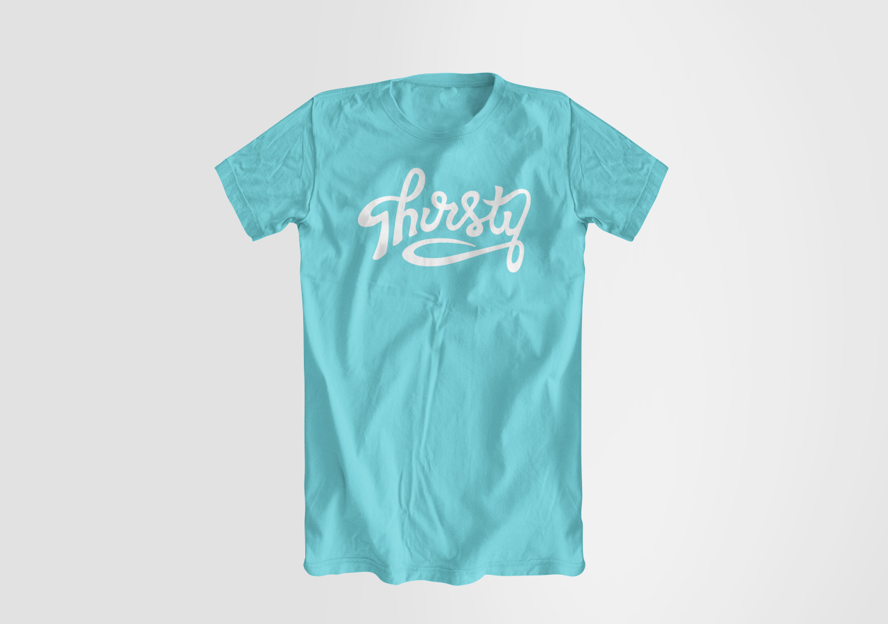 Identity Design Kettle Fire Creative Thirsty T-Shirt Bible study small group church identity design Identity DesignThirsty thirsty tshirt