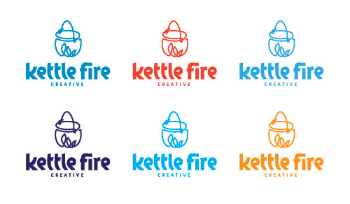 Logo design process, Kettle Fire Creative blog, logo colors, logo in different colors logo design Logo Design Process: Kettle Fire's 6 Steps to a Stellar Logo logo color options2