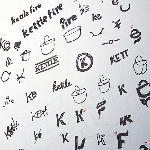 Logo design process, Kettle Fire Creative blog, sketching logo ideas logo design Logo Design Process: Kettle Fire's 6 Steps to a Stellar Logo logo sketching e1506709108967