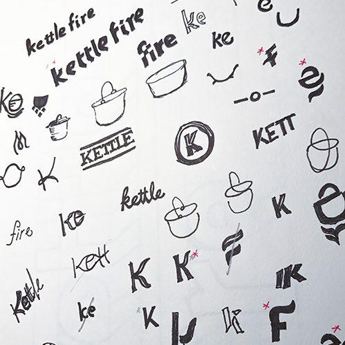 Logo design process, Kettle Fire Creative blog, sketching logo ideas logo design Logo Design Process: Kettle Fire's 6 Steps to a Stellar Logo logo sketching e1506709108967