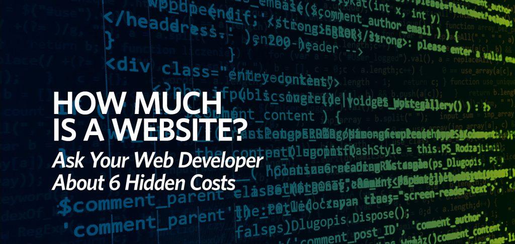 web developer, how much is a website, hidden costs of websites, Kettle Fire Creative blog
