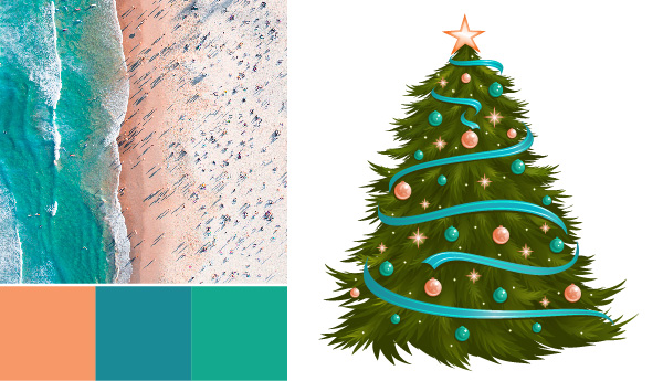 holiday color palette Holiday Color Palettes: 5 Christmas Color Combos Beyond Red & Green australian beach