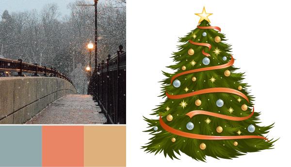 holiday color palette Holiday Color Palettes: 5 Christmas Color Combos Beyond Red & Green bridge metals