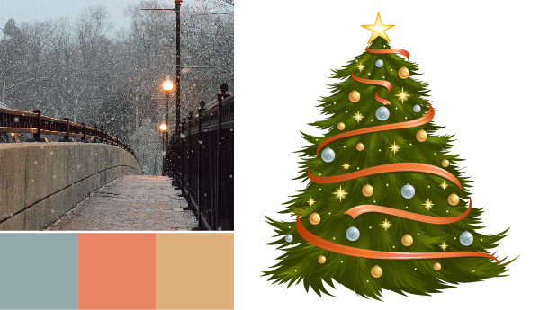 holiday color palette Holiday Color Palettes: 5 Christmas Color Combos Beyond Red & Green bridge metals