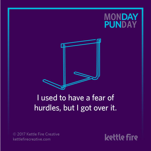 Best puns, hurdle puns, jokes humor funny, Kettle Fire Creative puns 35 Puns That Will Make Your Day kf social punday hurdle 1