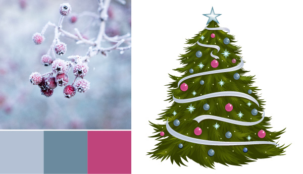 holiday color palette Holiday Color Palettes: 5 Christmas Color Combos Beyond Red & Green snow berries