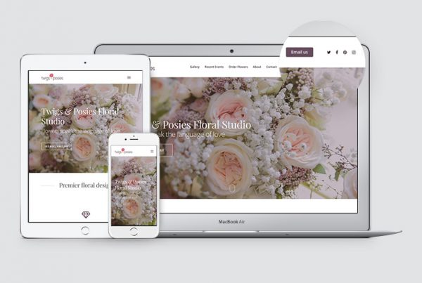 WordPress website Twigs & Posies, responsive web design, web developer, Kettle Fire Creative branding Work twigsandposies website fi masonry 600x403