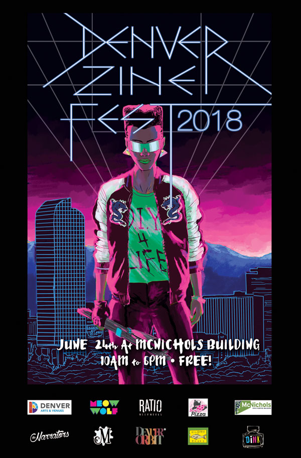 Festival Poster Designs Best of Colorado Summer 2018, Kettle Fire Creative blog, event posters, event marketing, Colorado festivals, Denver Zine Fest poster festival poster Festival Poster Designs: Best of Colorado, Summer 2018 2018 Denver Zine Fest poster with sponsors