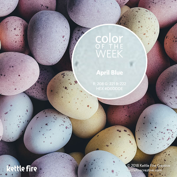 color inspiration, color ideas, colors from nature, RGB codes, HEX codes, Kettle Fire Creative blog, color of the week, april blue color inspiration Color Inspiration: 12 Stunning Shades to Spark Your Creativity cotw aprilblue