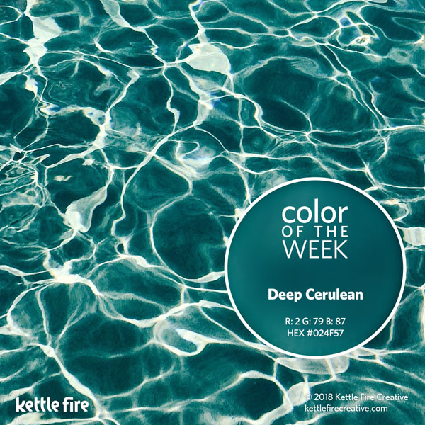 color inspiration, color ideas, colors from nature, RGB codes, HEX codes, Kettle Fire Creative blog, color of the week, deep cerulean color inspiration Color Inspiration Part II: 12 More Hues to Stir the Senses cotw deepcerulean