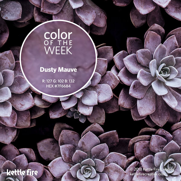 color inspiration, color ideas, colors from nature, RGB codes, HEX codes, Kettle Fire Creative blog, color of the week, dusty mauve color inspiration Color Inspiration Part II: 12 More Hues to Stir the Senses cotw dustymauve