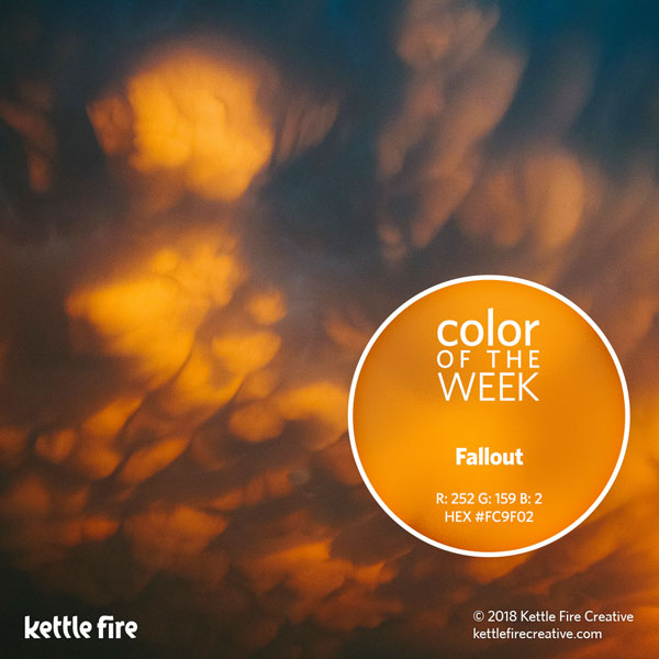color inspiration, color ideas, colors from nature, RGB codes, HEX codes, Kettle Fire Creative blog, color of the week, fallout color inspiration Color Inspiration Part II: 12 More Hues to Stir the Senses cotw fallout