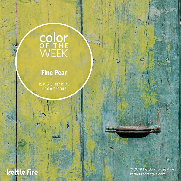 color inspiration, color ideas, colors from nature, RGB codes, HEX codes, Kettle Fire Creative blog, color of the week, fine pear color inspiration Color Inspiration: 12 Stunning Shades to Spark Your Creativity cotw finepear