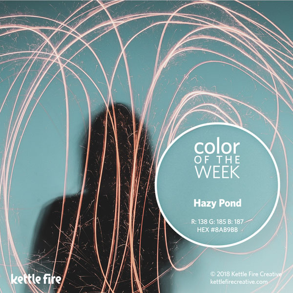 color inspiration, color ideas, colors from nature, RGB codes, HEX codes, Kettle Fire Creative blog, color of the week, hazy pond color inspiration Color Inspiration: 12 Stunning Shades to Spark Your Creativity cotw hazypond