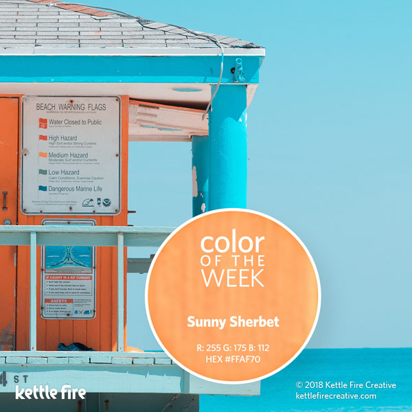 color inspiration, color ideas, colors from nature, RGB codes, HEX codes, Kettle Fire Creative blog, color of the week, sunny sherbet color inspiration Color Inspiration Part II: 12 More Hues to Stir the Senses cotw sunnysherbet