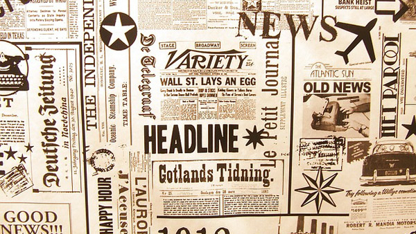 Verbal standards voice guide pile of newspapers headlines Kettle Fire Creative brand voice Brand Voice: 5 Must-Have Verbal Standards newspaper cropped