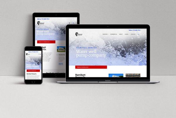 web design user experience Barnhart Pump Co by Kettle Fire Creative branding Kettle Fire Creative – Branding Colorado Springs bp website mockup fi 600x403