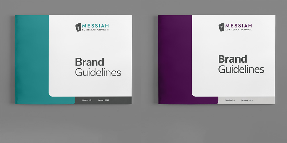 Brand standards Messiah Lutheran Church & School Kettle Fire Creative brand guide branding Work ml fi