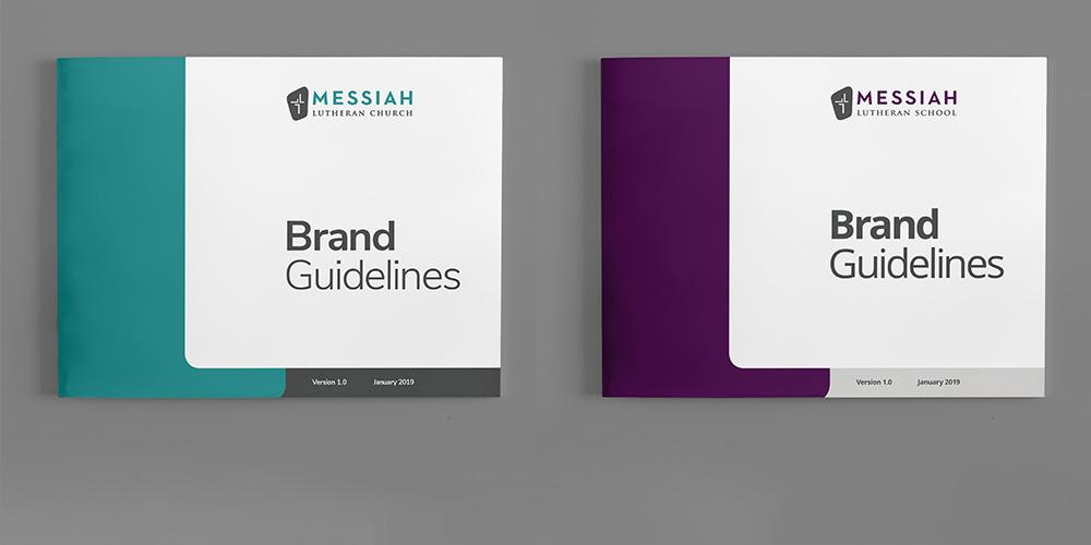 Brand standards Messiah Lutheran Church & School Kettle Fire Creative brand guide branding Work ml fi
