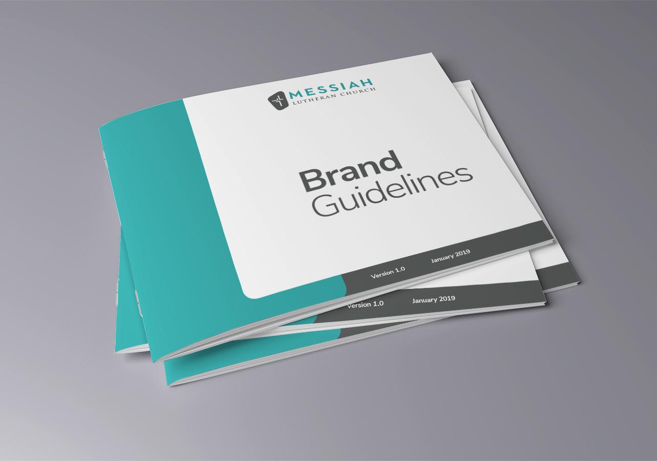 Brand standards Messiah Lutheran Church Kettle Fire Creative church brand guide brand standards Brand StandardsChurch & Christian School mlc covers mockup