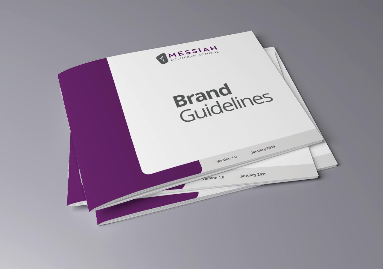 Brand standards Messiah Lutheran School Kettle Fire Creative school brand guide brand standards Brand StandardsChurch & Christian School mls covers mockup