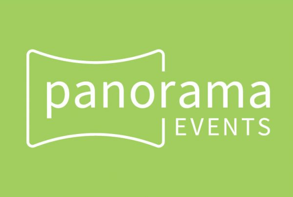 company name logo design Panorama Events by Kettle Fire Creative branding Kettle Fire Creative – Branding Colorado Springs panorama events green fi 600x403